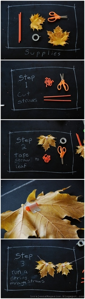diy leaf garland decorations handmade
