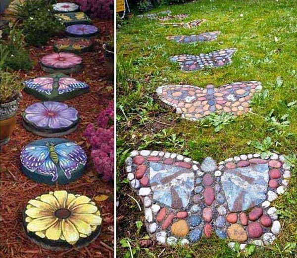 19 handmade cheap garden decor ideas to upgrade garden for Easy garden design ideas