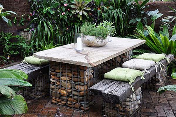 handmade cheap garden decor ideas to upgrade garden  Garden idea. Outdoor Furniture And Garden Decor   Home design and Decorating