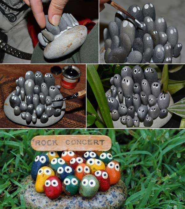 19 handmade cheap garden decor ideas to upgrade garden for Outdoor decorating with rocks