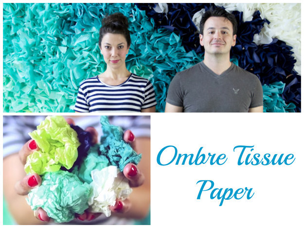 gorgeous  innovative diy handmade tissue paper backdrop