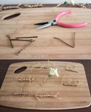homemade jewelry hair pin