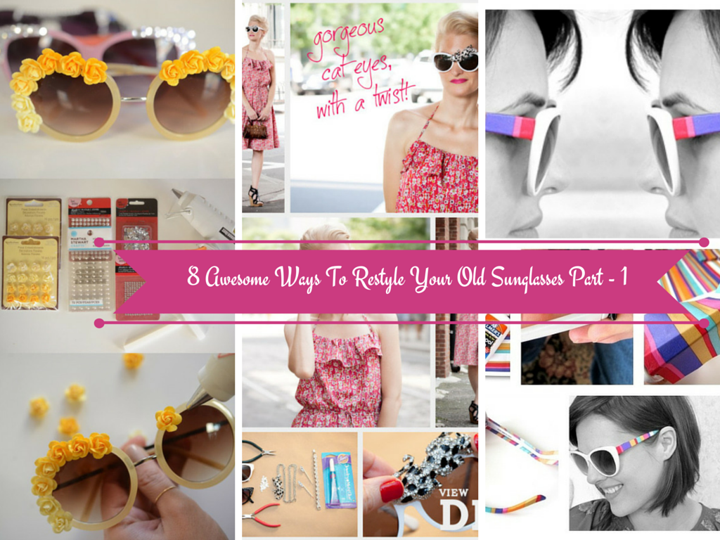 how to decorate sunglasses