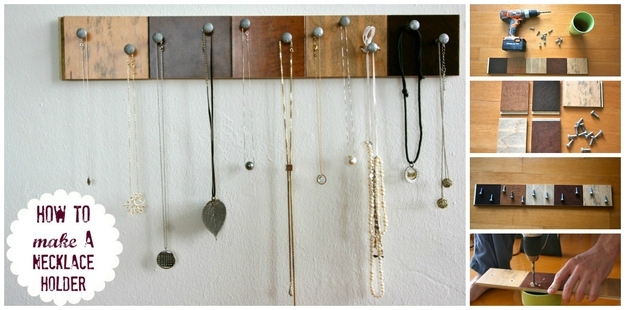 how to make diy jewelry organiser at home