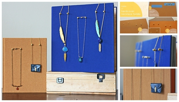 how to make necklace holder