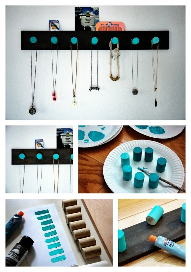 make necklace holder at home