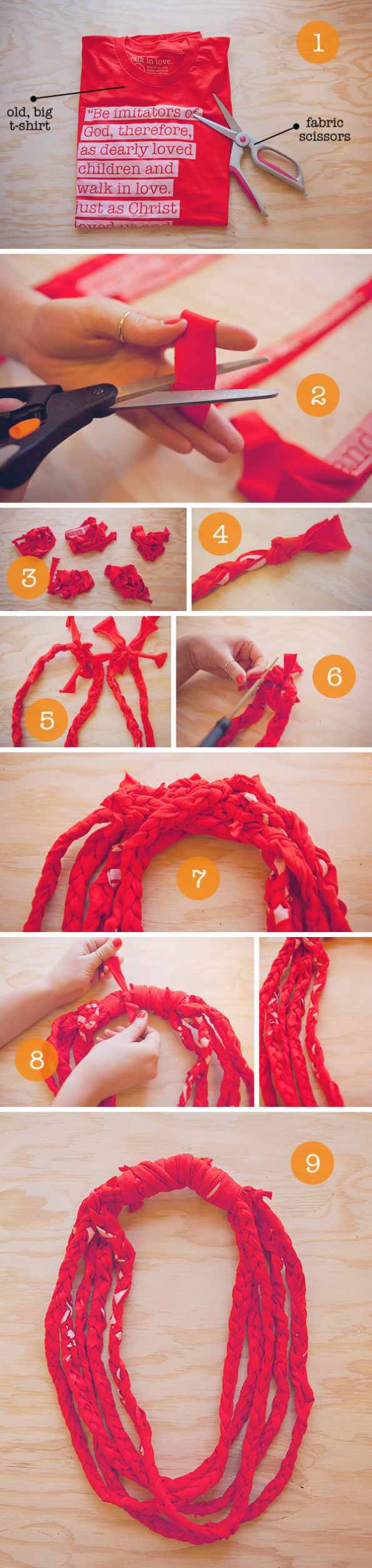 t shirt scarf instructions