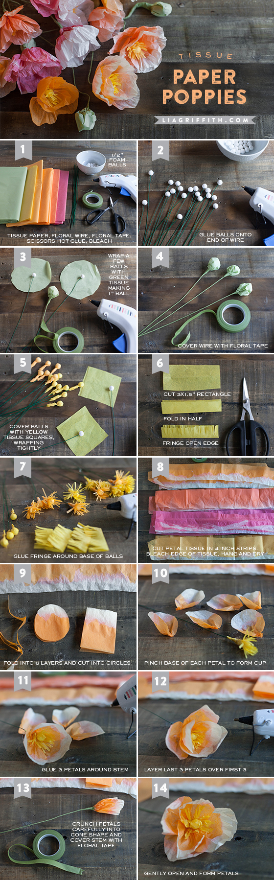 tissue paper flowers diy50
