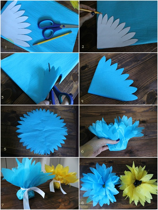 tissue paper flowers diy7