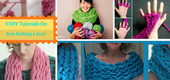 11 Diy Ways How To Arm Knit An Infinity Scarf In Just 30 Minutes