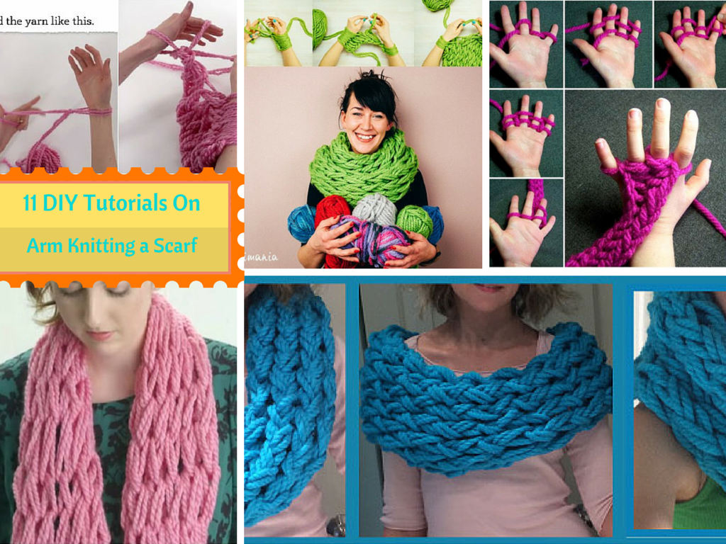 11DIY Tutorials On: How to Arm Knit an Infinity Scarf in Just 30 Minutes