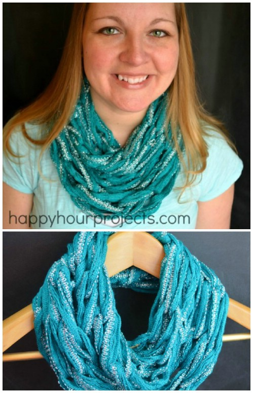 How to Knit an Infinity Scarf in Just 30 Minutes