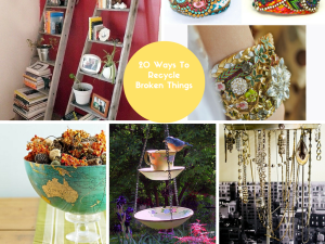 20 DIY Ways: How to Recycle Broken Things Into Creative Craft Part II