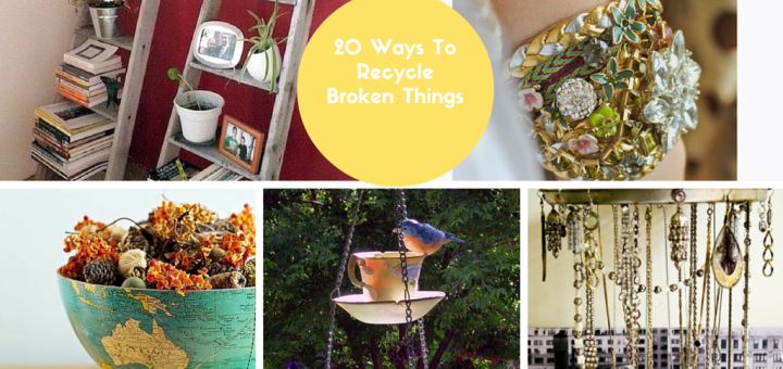 How to Recycle Broken Things Into Creative Craft