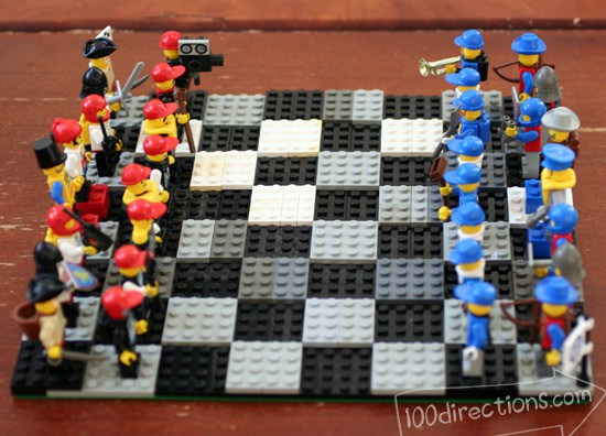 LEGO-chess-board diy lego craft Ways To Upcycle reuse recycle Lego
