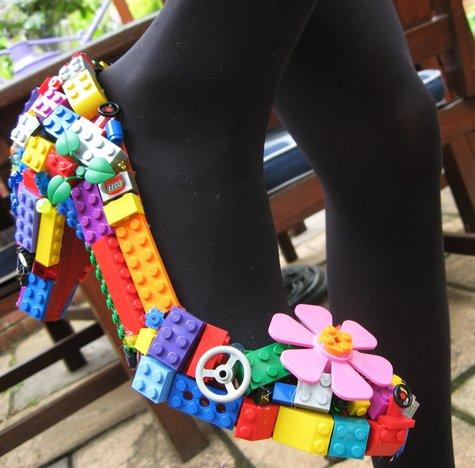 diy lego shoe craft Ways To Upcycle reuse recycle Lego 1