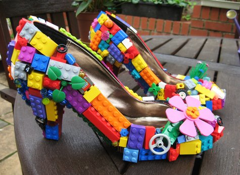 diy lego shoe craft Ways To Upcycle reuse recycle Lego