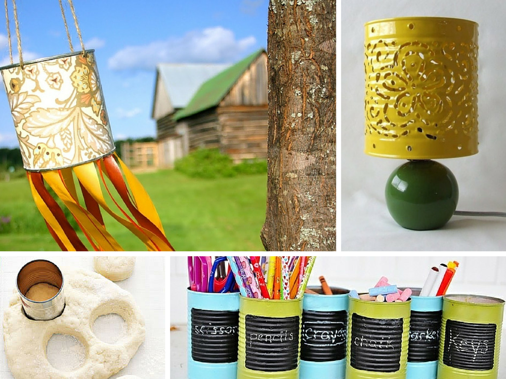 13 diy recycled crafts ideas to make use of empty tin cans for Recycle project ideas