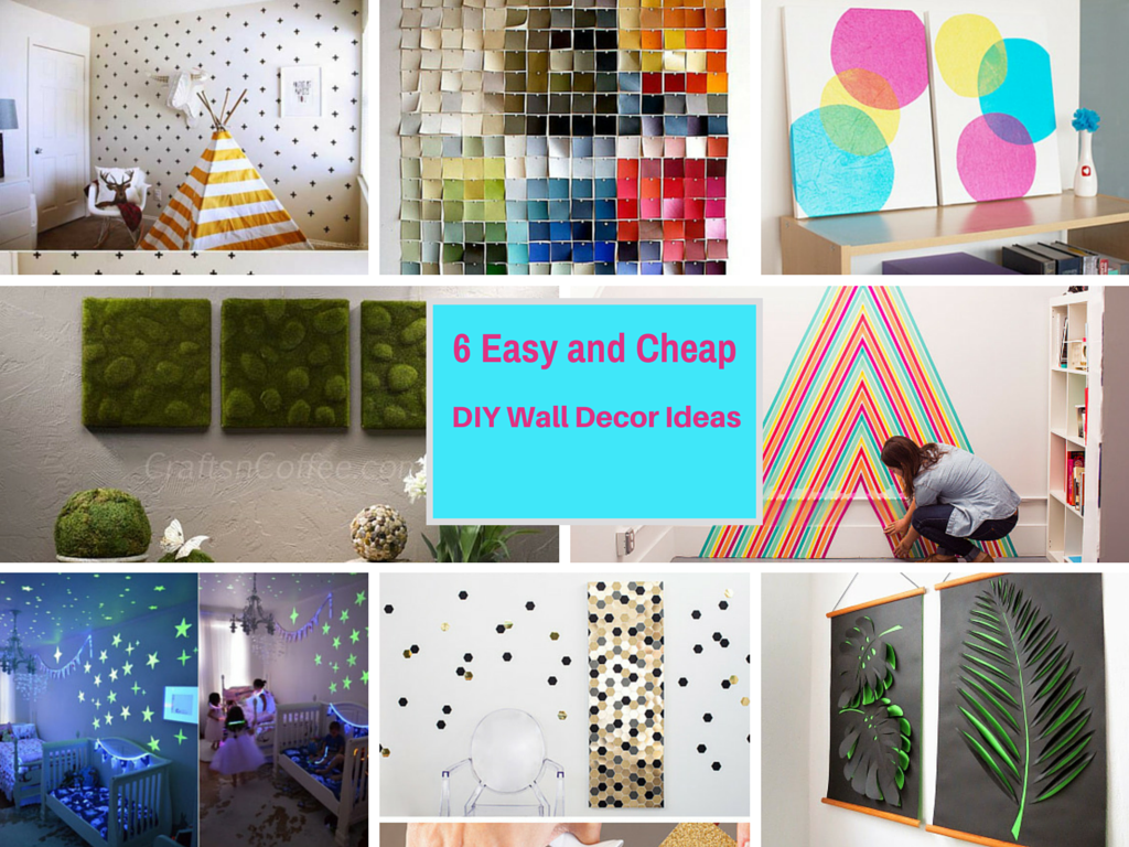 6 extremely easy and cheap diy wall decor ideas part 4 - Cheap wall decoration ideas ...