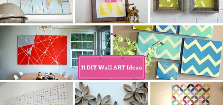 11 diy wall decorating ideas to do makeover of boring walls for Craft ideas for living room