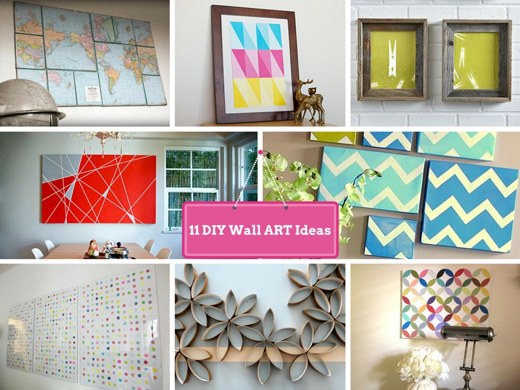 11 diy wall decorating ideas to do makeover of boring walls - Craft ideas for wall art ...