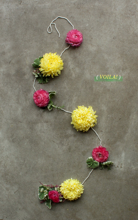 diy flower garland handmade diy flower decorations4