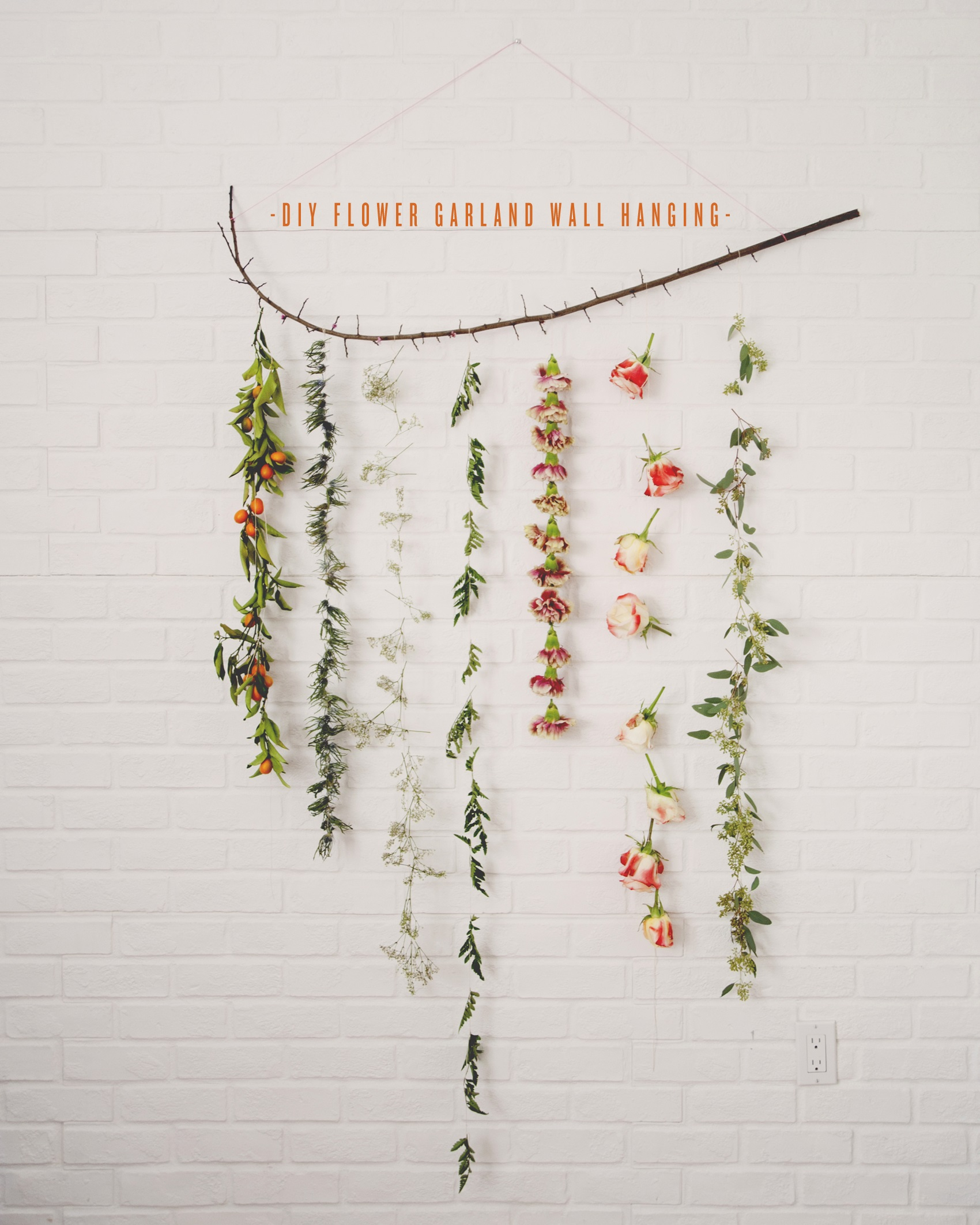 diy flower garland handmade diy flower decorations6