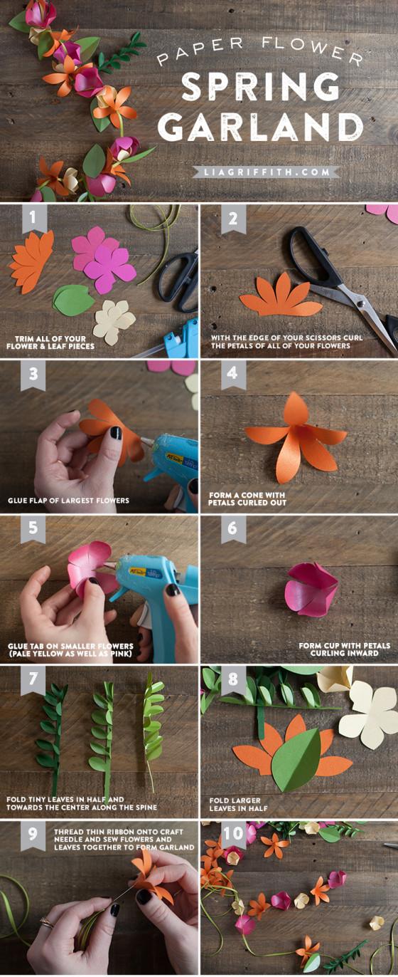 diy flower garland handmade diy flower decorations