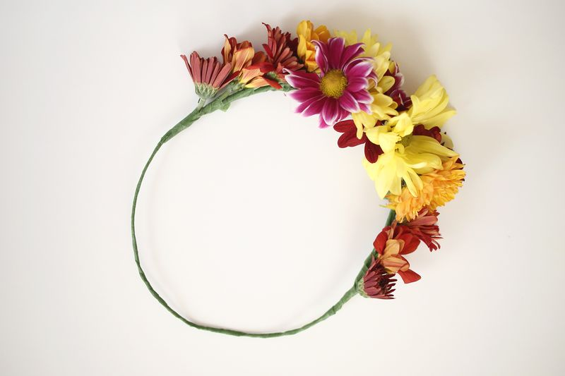 diy how to make a flower crown headband2