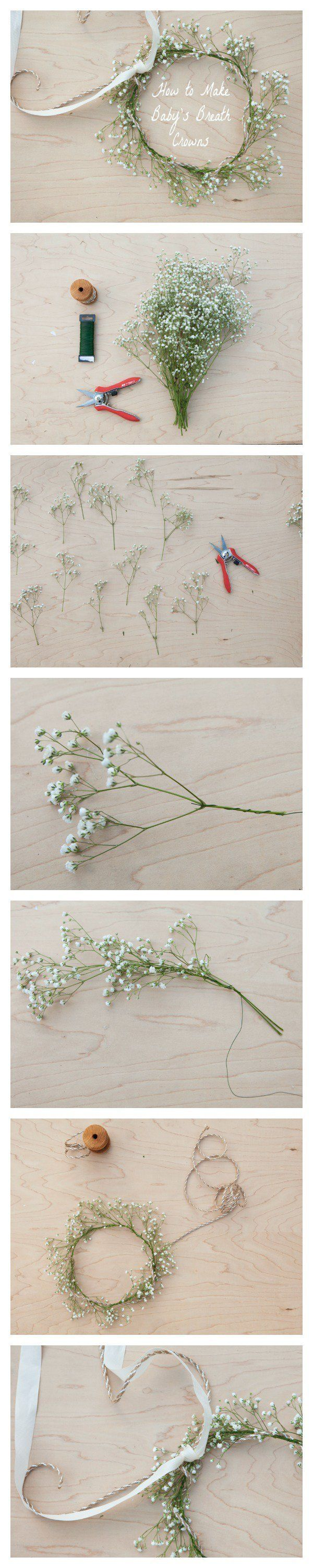 diy how to make a flower crown headband5
