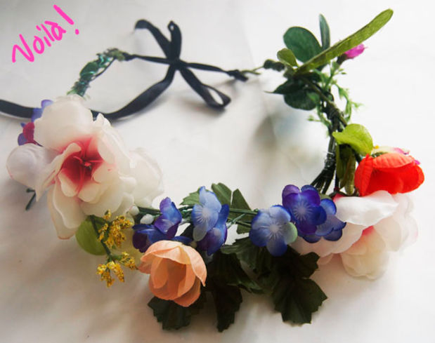 diy how to make a flower crown headband6