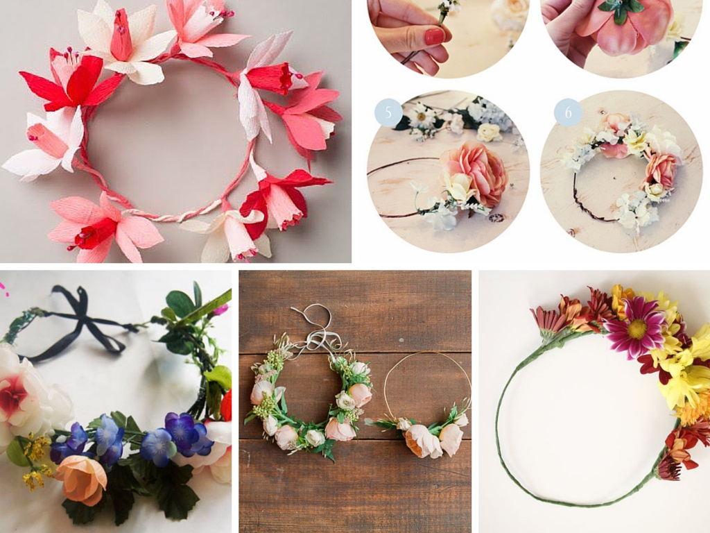 7 Absolutely Beautiful and Adorable  DIY Flower Crown Ideas: Part 1