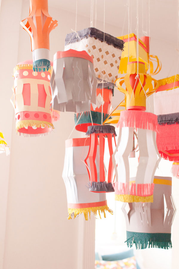 Image gallery homemade paper lantern clean for Paper lantern tutorial