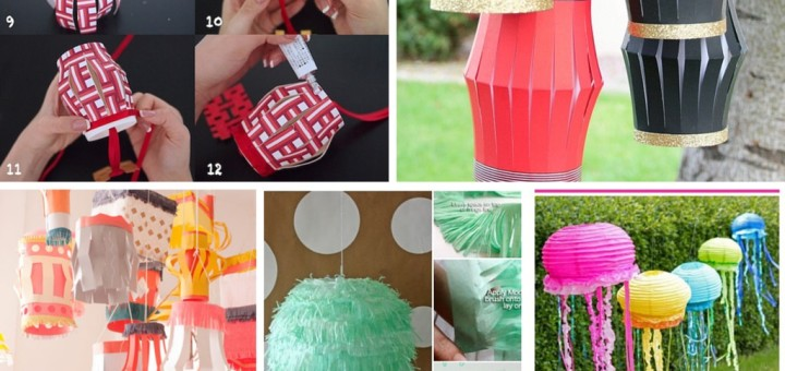 how to make indian cloth lanterns
