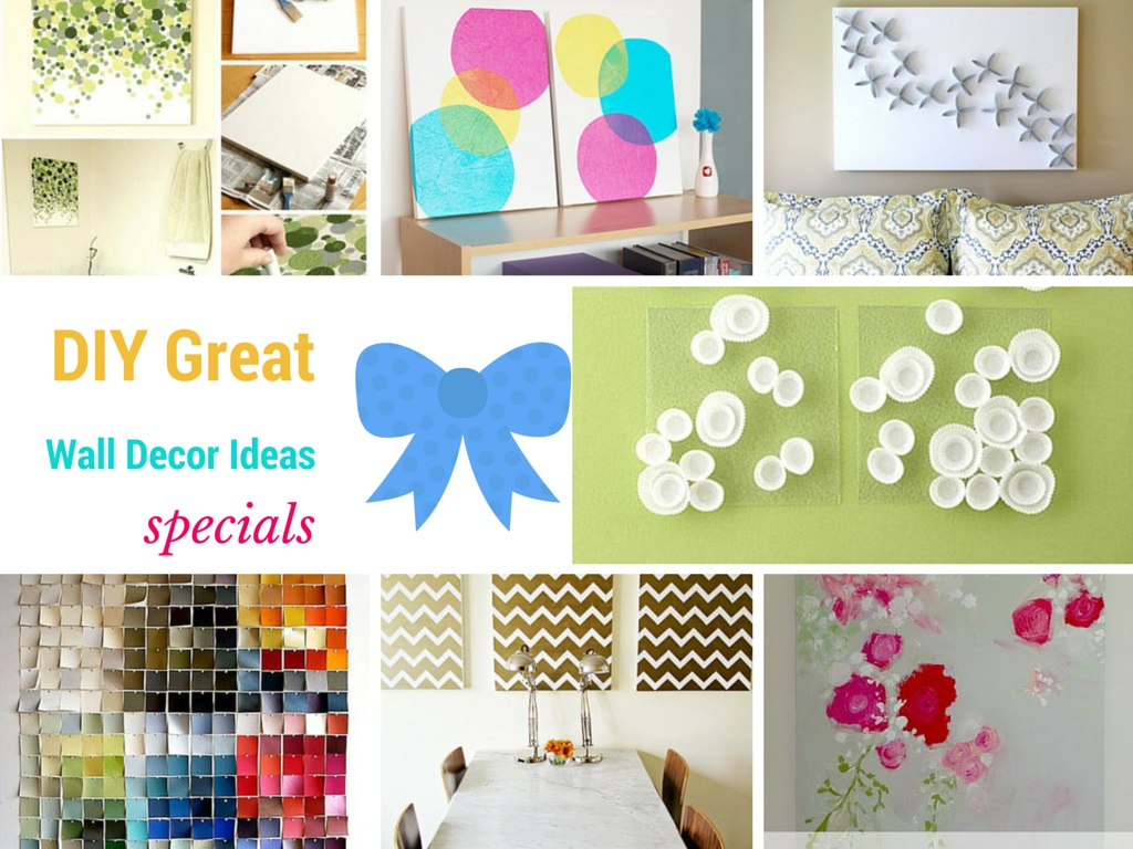 15 great diy wall decor ideas to make walls amazing for Diy wall decal ideas