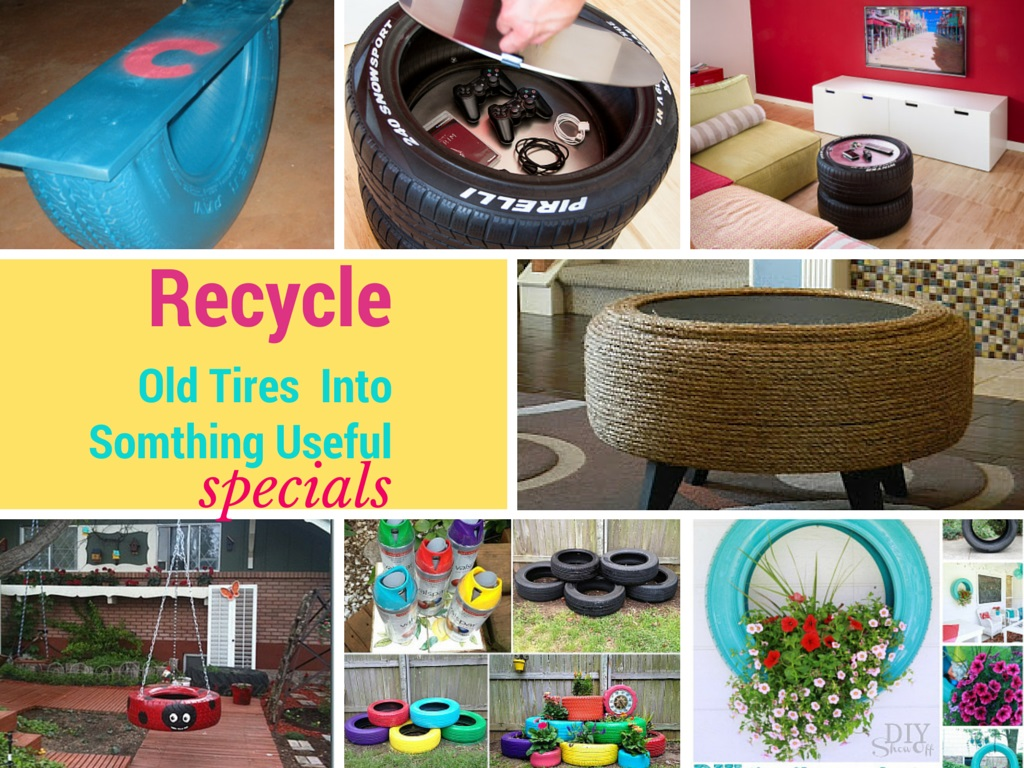 7 Genius Ways to Recycle Old Tires Into Something Exciting: Part 1