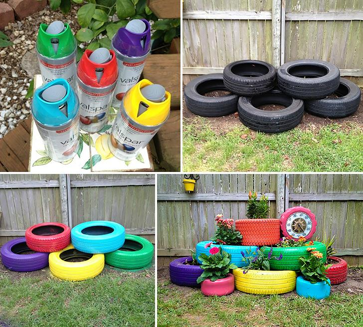 how to recycle and reuse old tires into planter DIY crafts