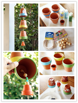 How-to-make-wind-chimes-with-planting-pots