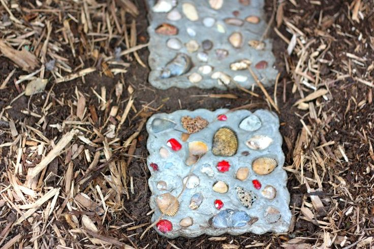 Seashell Stepping Stones decoration ideas