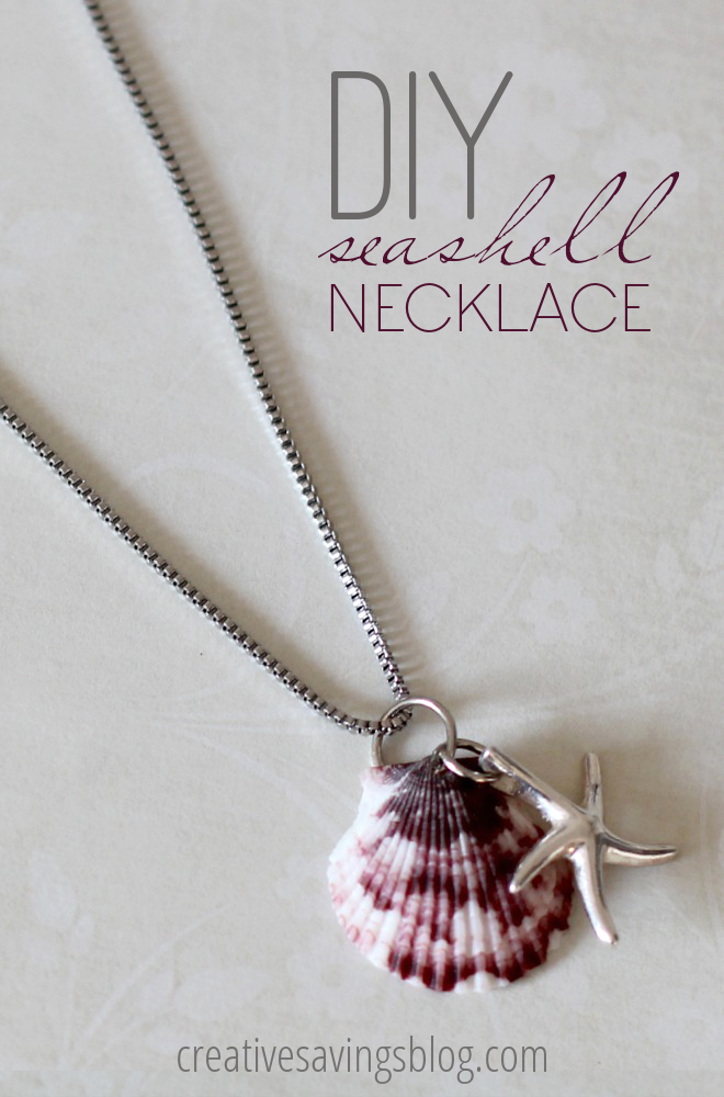 diy easy sea shell necklace jewellery1