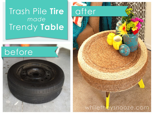 7 unique ways to recycle old tires into something amazing for Tire table diy