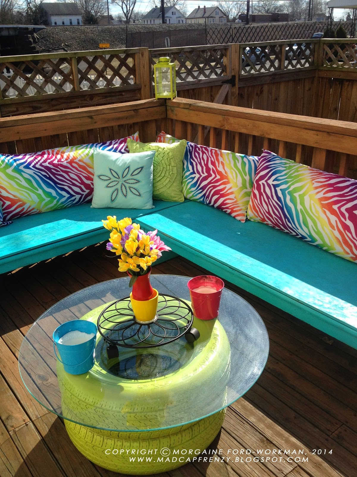 diy old tyre tires crafts ideas table2
