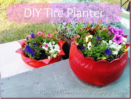 diy old tyre tires planter ideas