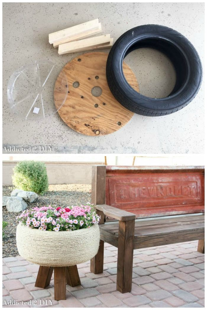 7 unique ways to recycle old tires into something amazing - Planters made from old tires ...