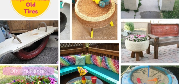 7 unique ways to recycle old tires into something amazing - What to do with used tires ...