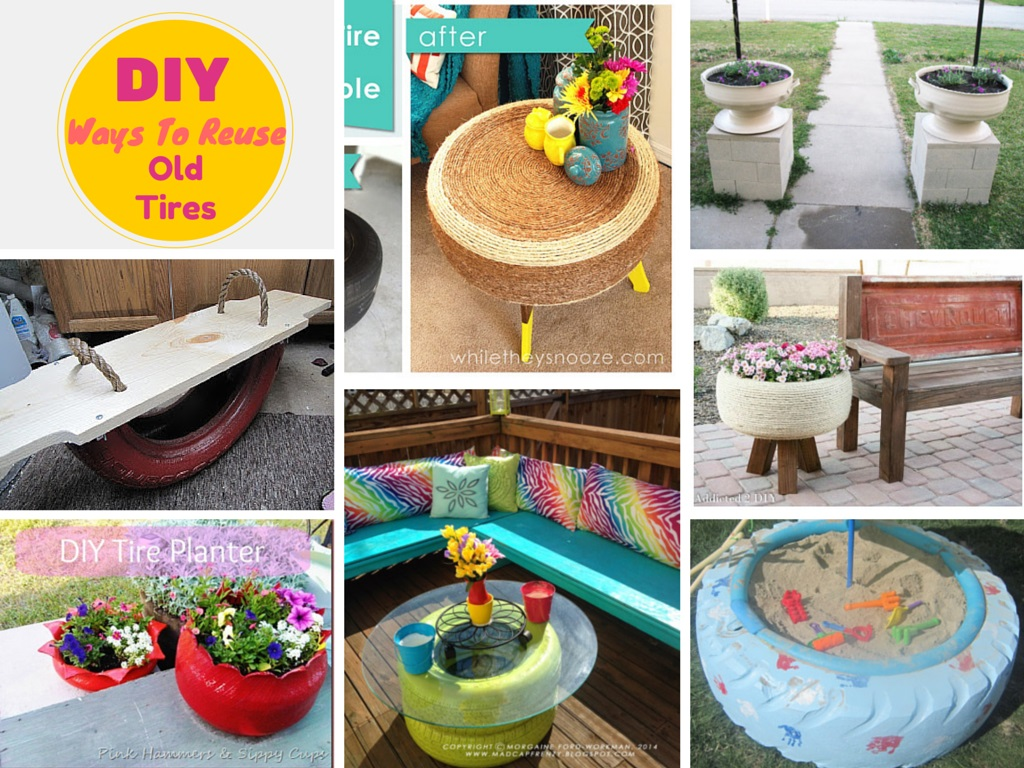 Unique Ways To Recycle Old Tires Into Something Amazing