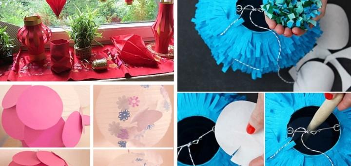 easy diy paper lanterns ideas