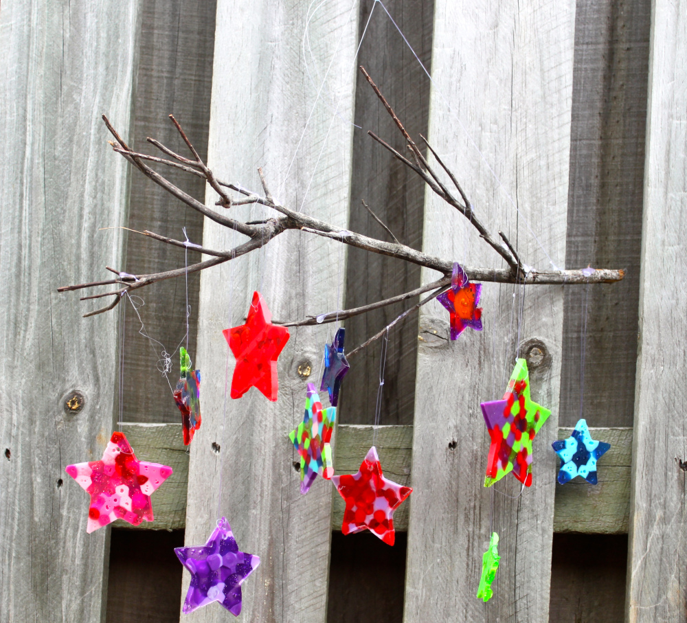 Handmade paper wind chimes images for Easy wind chimes