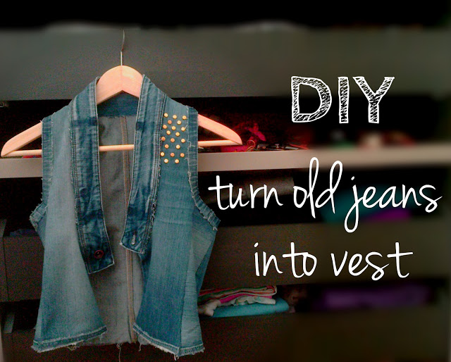 turn old jeans into vest diy reuse old denim jeans