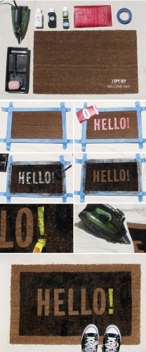 DIY Doormat and Bathmat Ideas 2